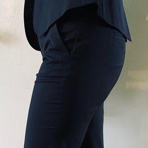 J.crew navy suit pants (w/ subtle white stripes)